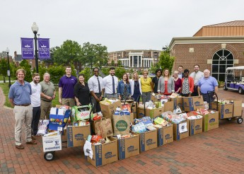 HPU Kicks Off 'Stamp Out Hunger Drive' with 2,000 Pounds of Food