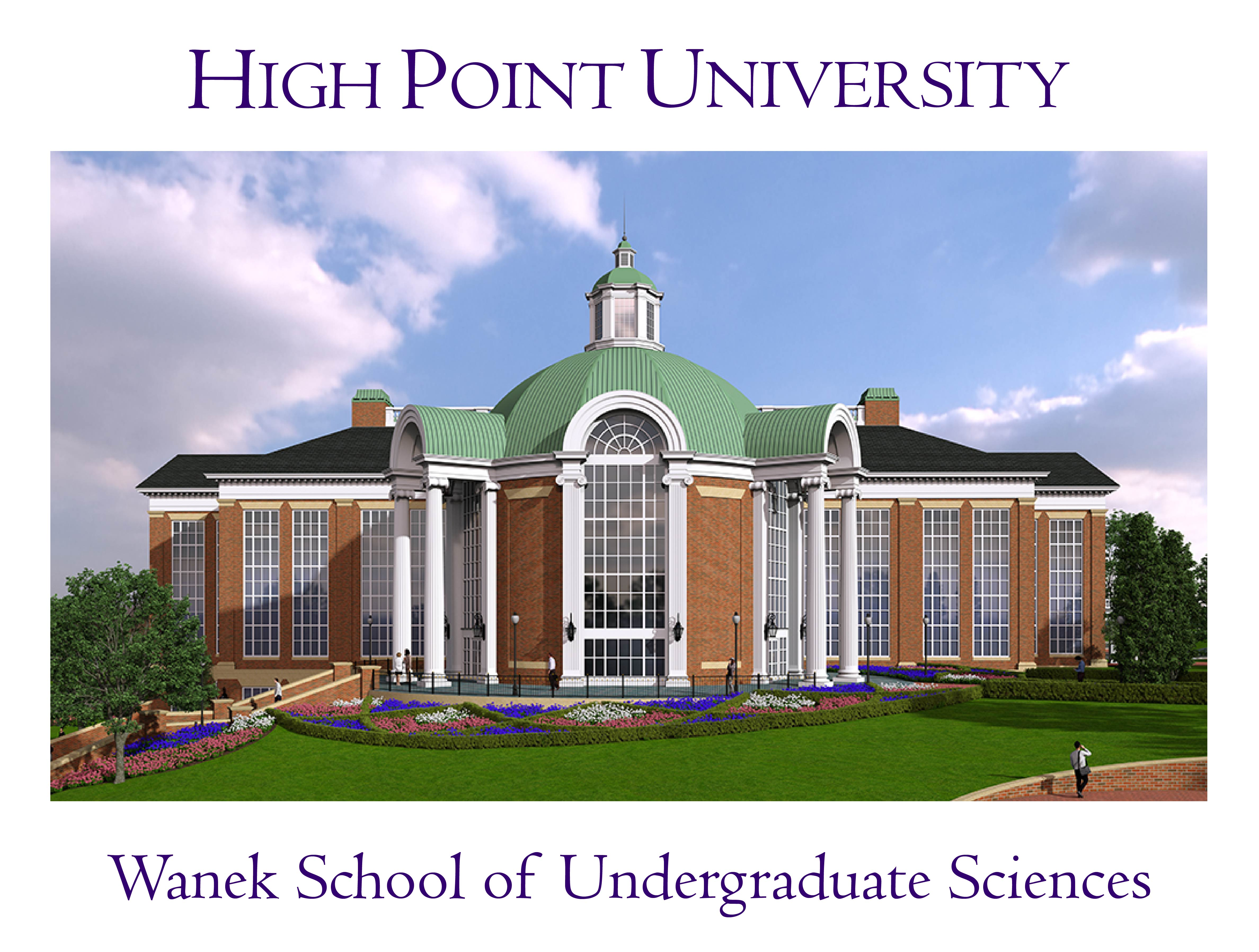 hpu names  school  undergraduate sciences  todd  karen wanek high point university