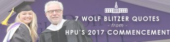 7 Wolf Blitzer Quotes from HPU's 2017 Commencement