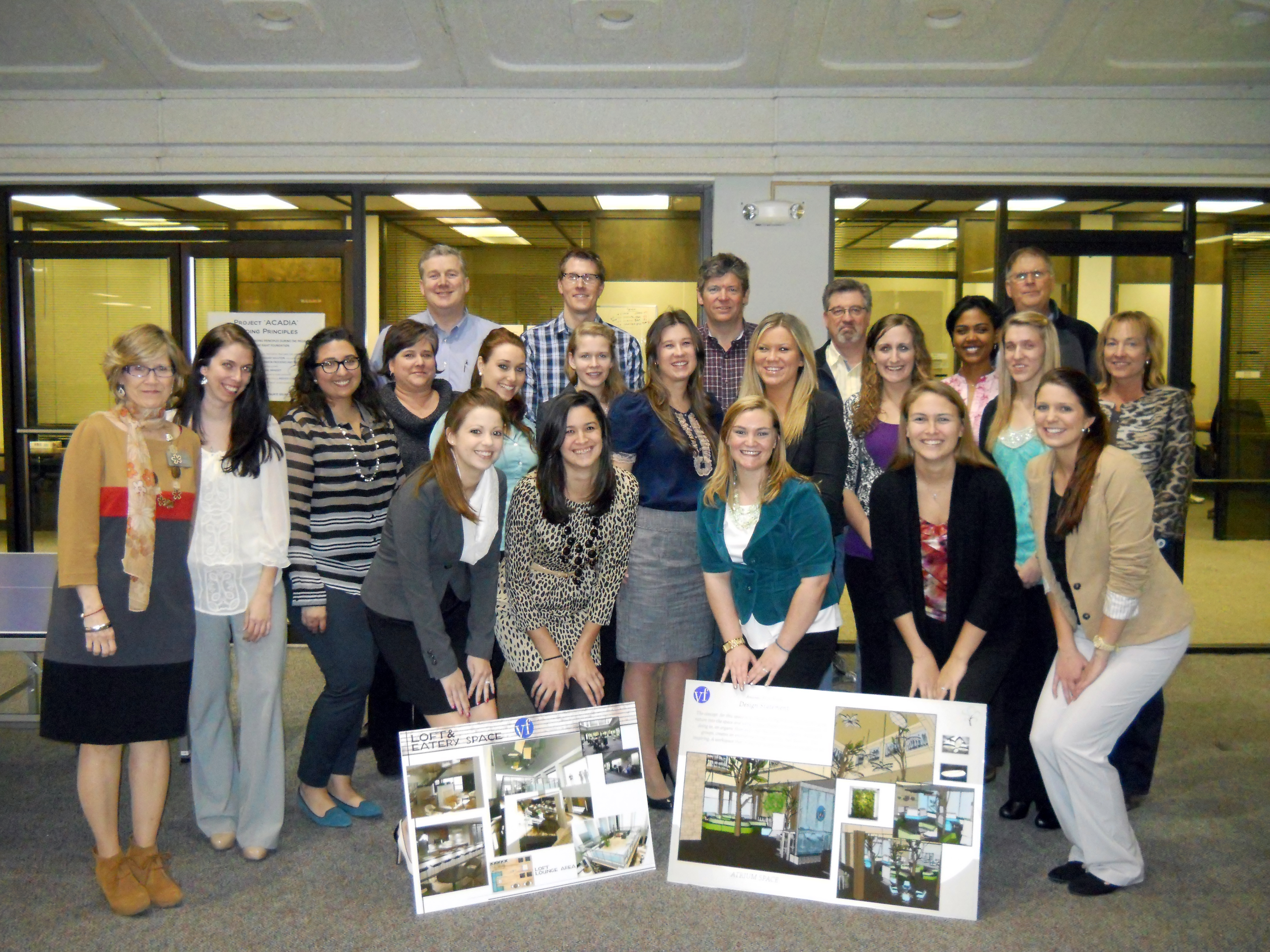 Interior Design Students Help Remodel Vf Corporation Office High Point University High Point