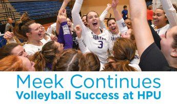 Meek Continues Volleyball Success at HPU