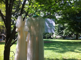 Public Invited to Deconstruct Wedding Dresses for Domestic Violence Awareness