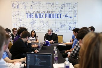 Apple Co-Founder Steve Wozniak Mentors and Mixes with HPU Students