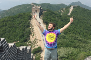 Zach Zukowski hiked the Great Wall of China during his semester abroad in Hong Kong