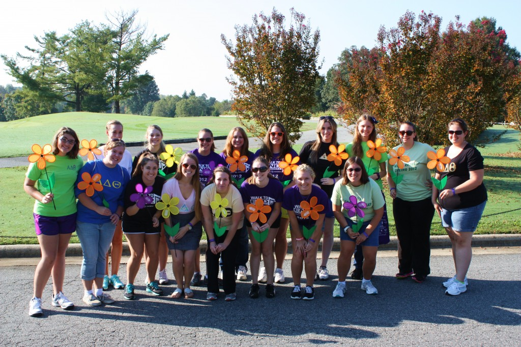 High Point University's ADT participates in Alzheimer's Walk