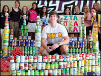 Greek Community, SGA Collect Canned Goods For United Way 'CANpaign'