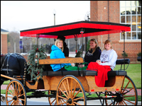 HPU Equestrian Club Provides Carriage Rides To Students For The Holidays