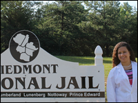 Rising Senior Interns as Dental Assistant at Piedmont Regional Jail in Virginia