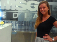Student Prepares For A Career In Broadcast At Madison Square Garden