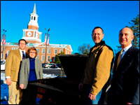 High Point University's Student Government Association Donates Grill To Helping Hands
