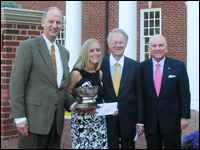 Rachel Sturm Presented With High Point University 2009 Haverty Cup