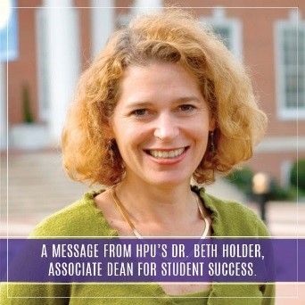 A Message from Dr. Beth Holder, Associate Dean for Student Success