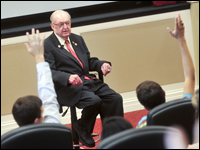 U.S. Representative Howard Coble Talks About Election Season with HPU Students