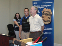 HPU Students Learn From IRS Special Agents During Adrian Project