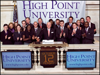 HPU President, Students Ring NYSE Closing Bell
