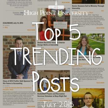 Top 5 Trending Posts in July