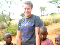 HPU Senior Volunteers at AIDS Orphanage in Africa