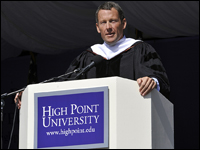 Lance Armstrong Provides Insightful Message To Largest Class In History At HPU Graduation Ceremony