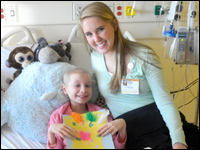 Student Provides Art Therapy to Children Through Internship at Brenner Children's Hospital