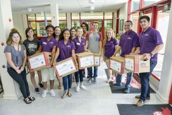Students Donate Books to Local Schools