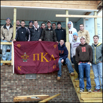 Pi Kappa Alpha Fraternity Volunteers With Habitat for Humanity
