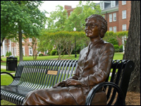 ROSA Parks And Galileo Sculptures Unveiled On Kester International Promenade At HPU