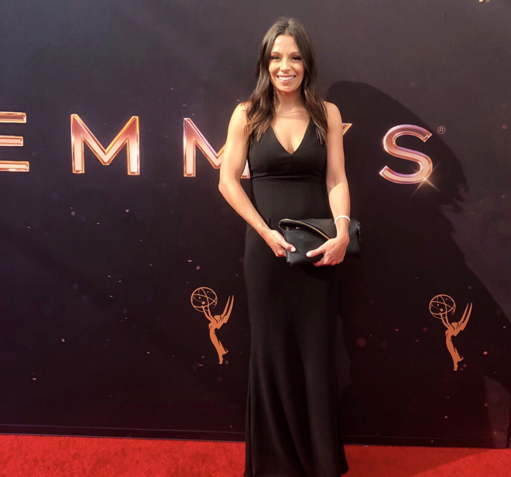 HPU graduate Samantha Garrison attends the Emmy Awards