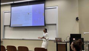 Shirley Garrett presenting