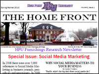 HPU To Publish 'The Home Front,' A New Furnishings Research Newsletter