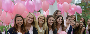 High Point University's ZTA Balloon Release