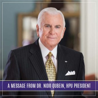 A Message From Dr. Nido Qubein, HPU President