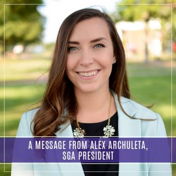 A Message From Alex Archuleta, SGA President