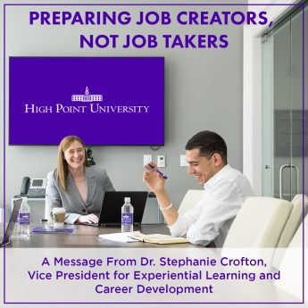 A message from HPU's Dr. Stephanie Crofton, Vice President for Experiential Learning and Career Development