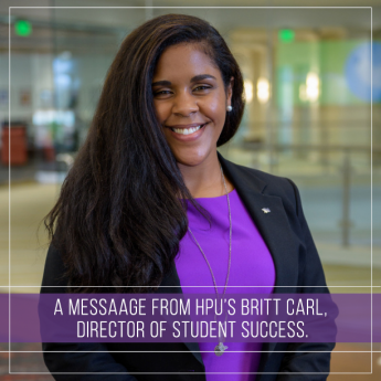 A Message from Britt Carl, Director of Student Success