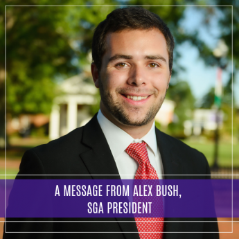 A Message from Alex Bush, SGA President