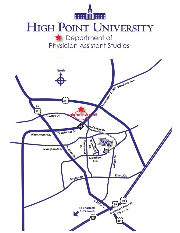 Map to Department of Physician Assistant Studies