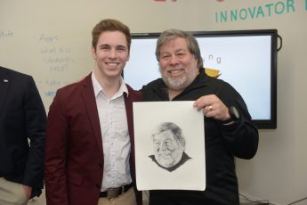 Physics and CS Majors Meet with Steve Wozniak