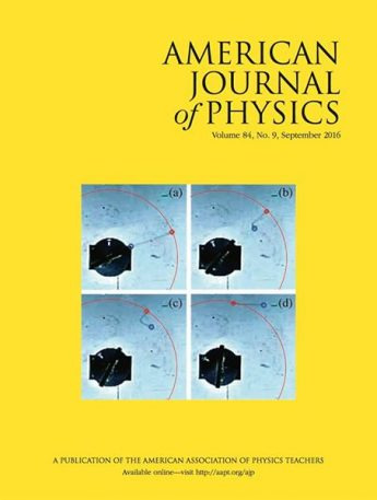 Student's Research Published in American Journal of Physics