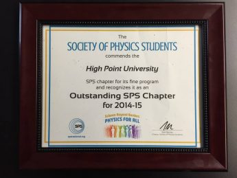 HPU SPS Named Outstanding Chapter