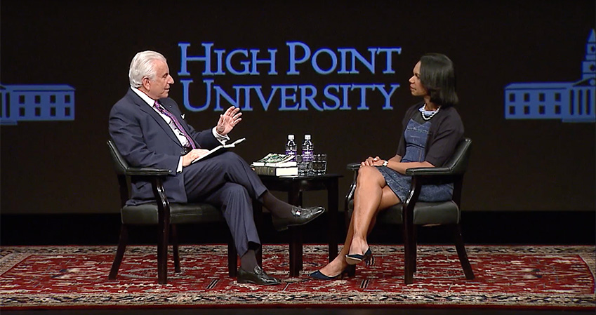Dr. Condoleezza Rice and Dr. Nido R. Qubein Thumbnail