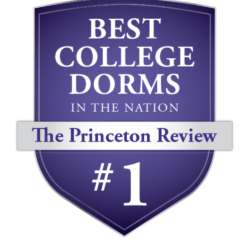 Princeton Review Badge Best College Dorms High Point University