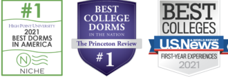 Badges 2021 High Point University Best Dorms in America