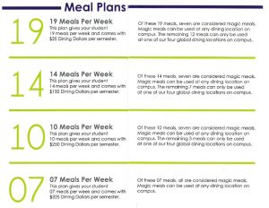 Updated Meal Plans