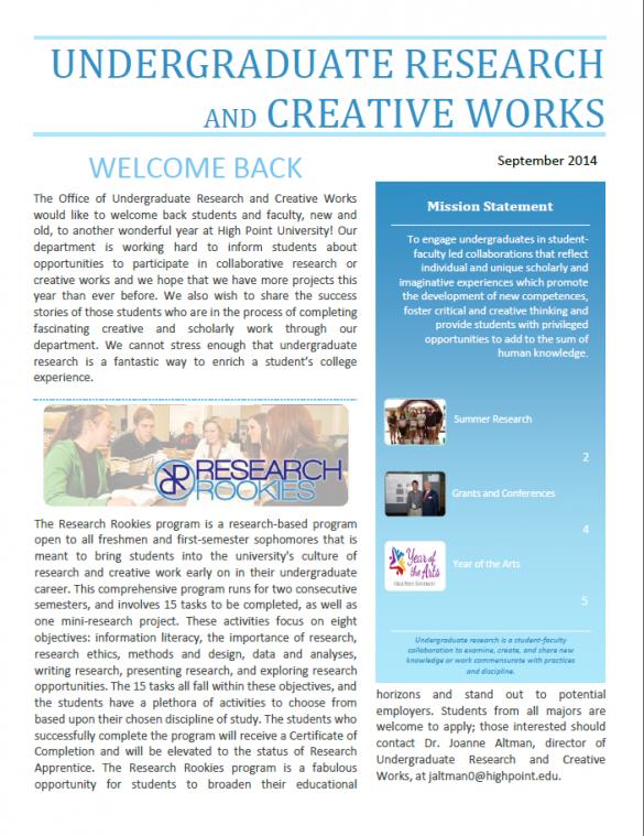 2014-2015 newsletter
