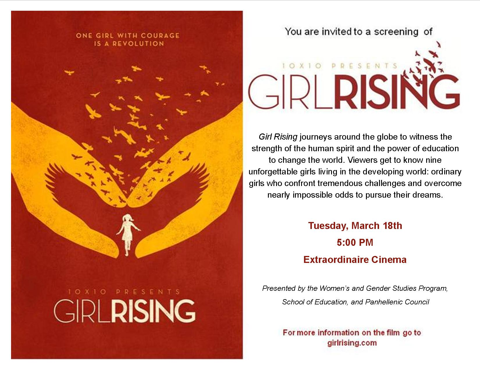 Girl Rising invite