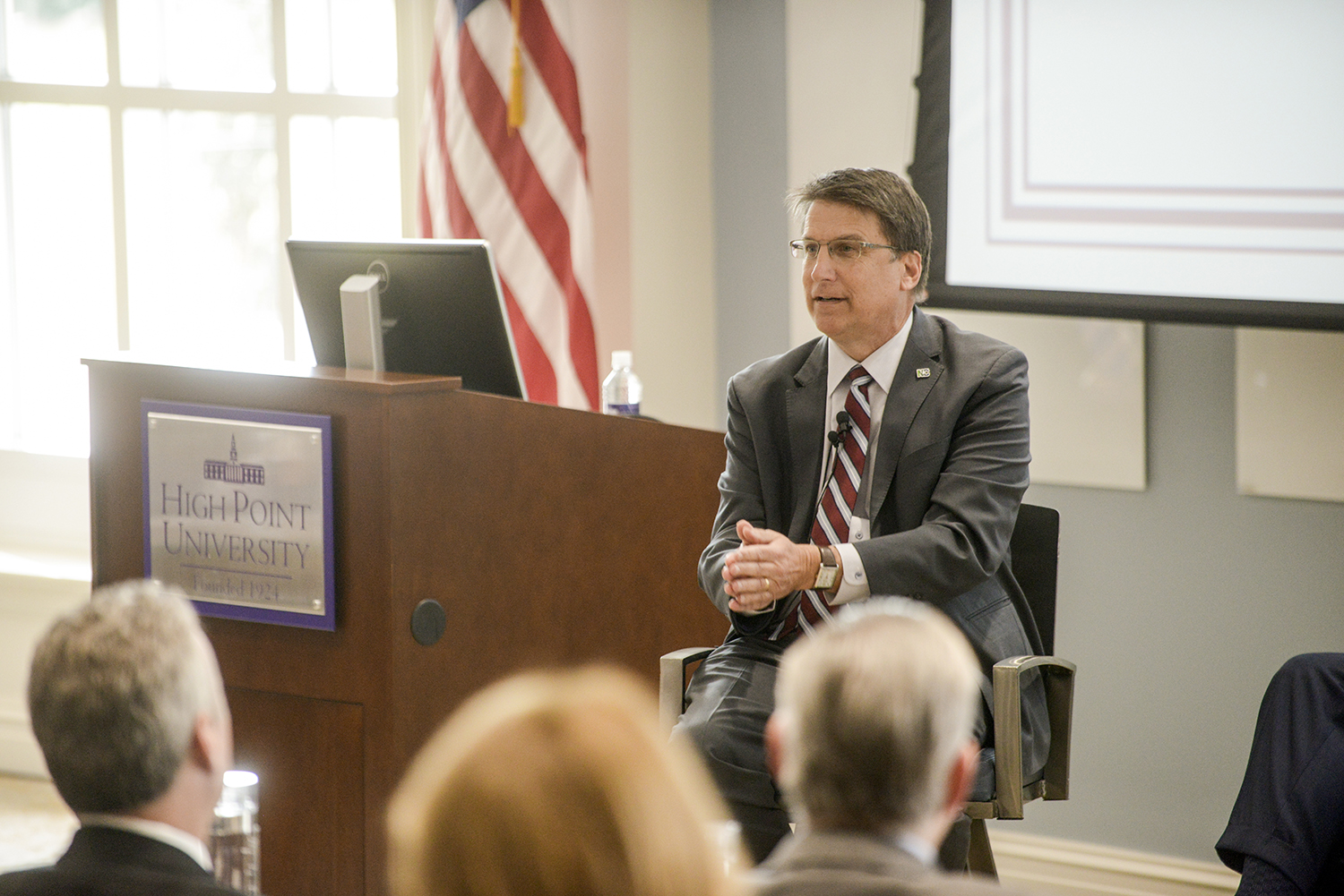 North Carolina Governor Pat McCrory discussed the crucial role higher education plays in the future of NC.