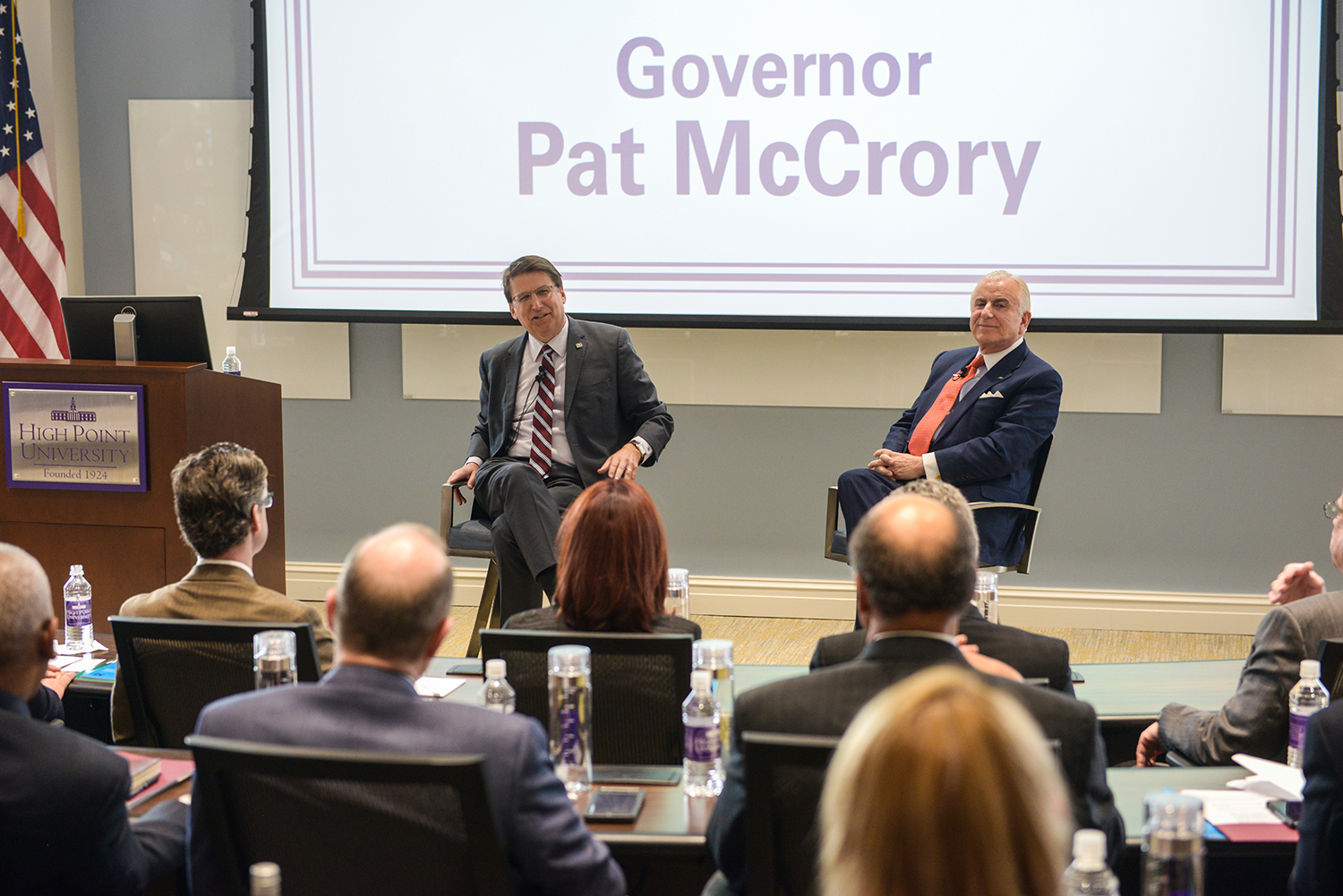 Gov. McCrory and Dr. Qubein presented during the President's Forum earlier today.