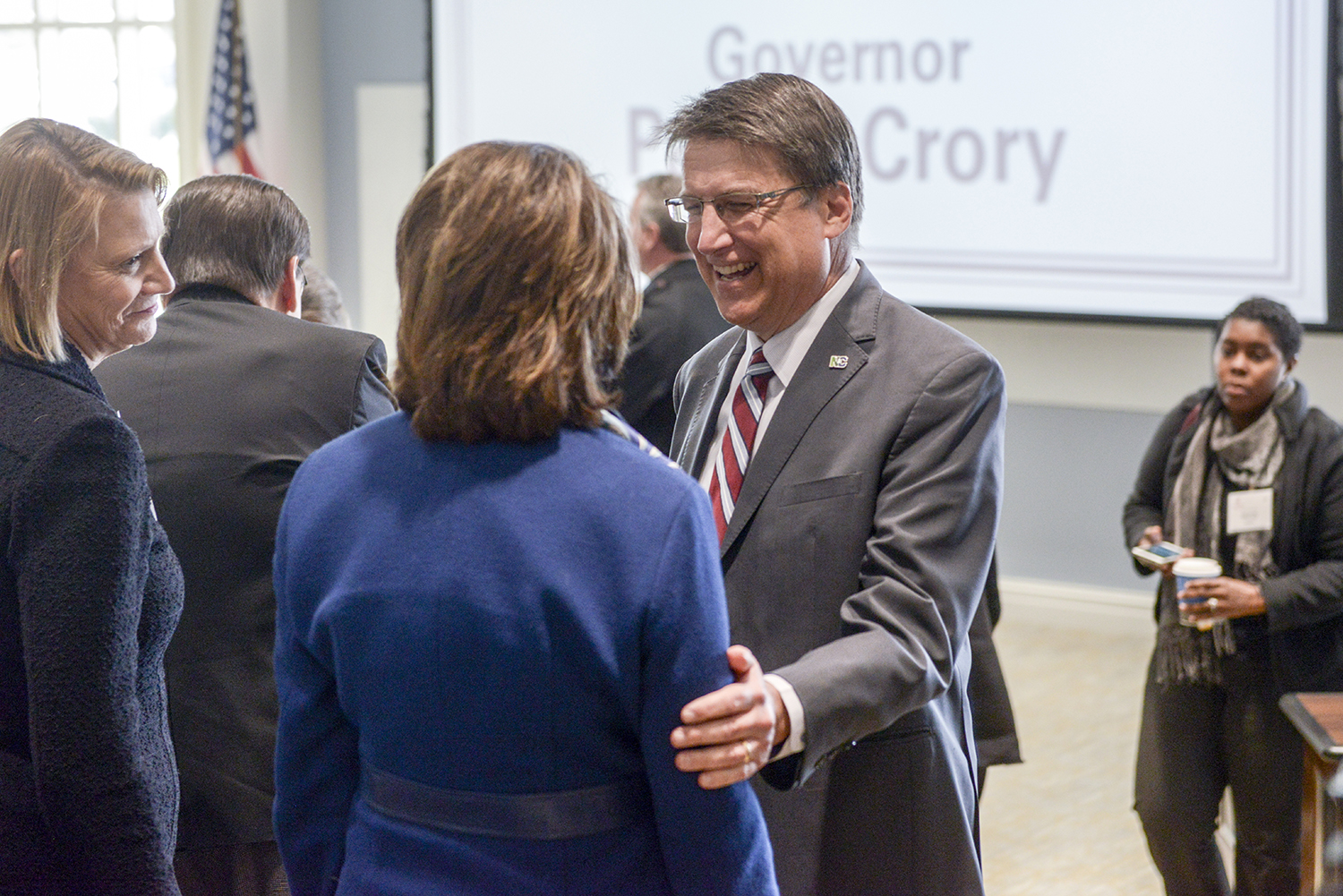 Gov. McCrory greeted presidents from private and public universities throughout the state.