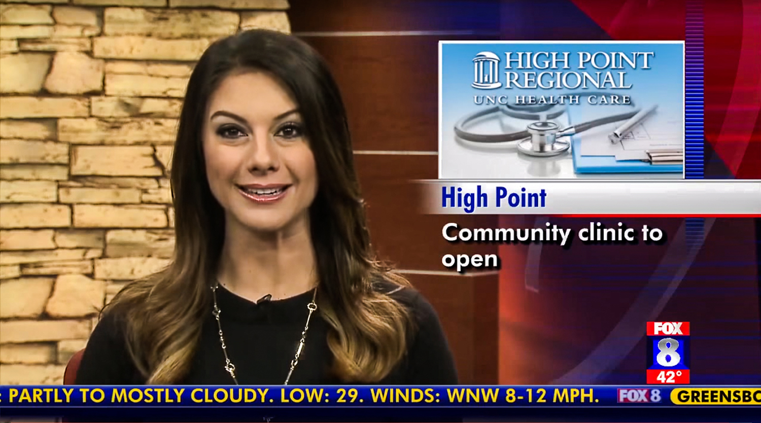 Fox 8 covered HPU's Community Rehabilitation Clinic announcement on Wednesday.