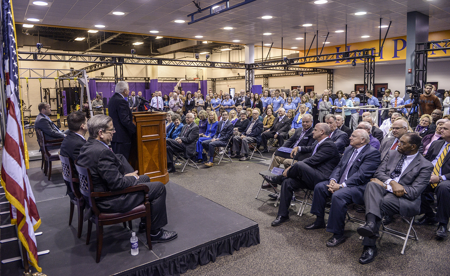 More than 100 community members attended the event in HPU's Human Biomechanics and Physiology Lab, where the clinic will be housed.